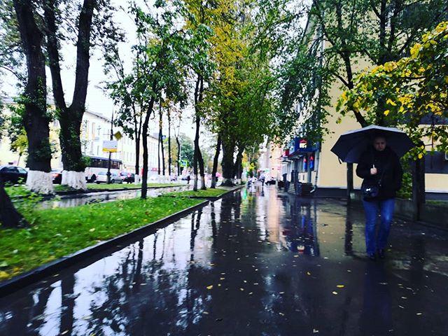 Доброе утро, Псков! #псков #pskov #дождьЗапомните, друзья: это медведя надо обходить с подветренной стороны, а курильщика - с наветренной.