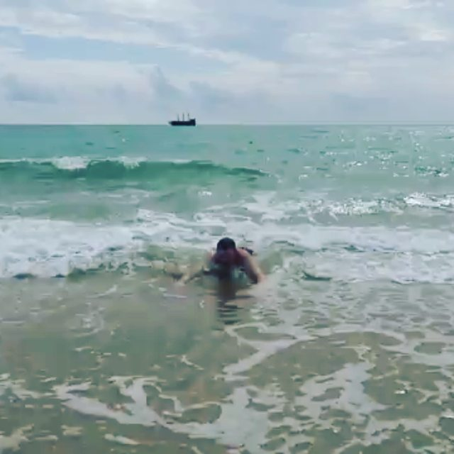 Волновой массаж https://nemtsev.livejournal.com/516298.html video by @va_nemtsev#тунис #хаммамет #hammamet #tunisia #waves #beach